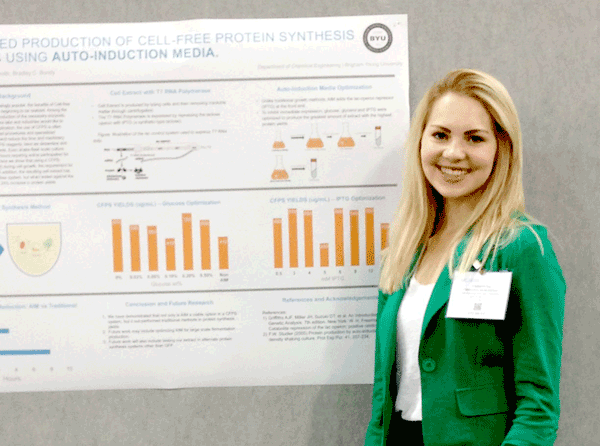 1st Place in National Undergraduate Research Competition Awarded to BYU ChE Student Christina Muhlestein