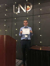 Conner Earl finishes 1st at AIChE Undergraduate Research Paper Competition